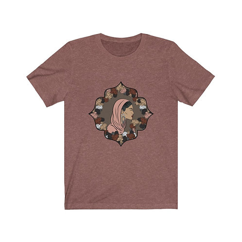 Woman In Color Head Covered Tee