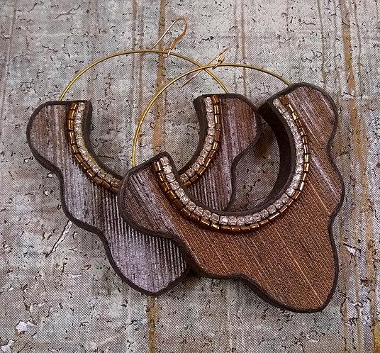 India Drop Pyramid Earrings