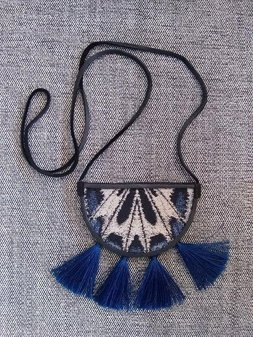 Tribe Tassel Pouch Blue