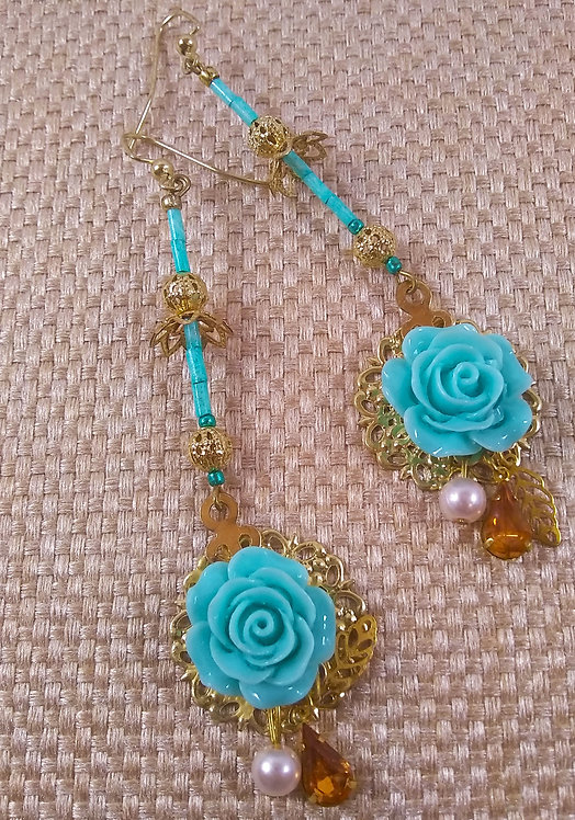 Flora Pastel Dangle Earrings