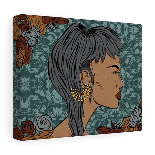 Woman With Cropped Cut Canvas Gallery Wraps