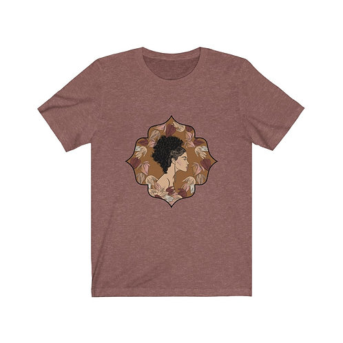 Woman In Color Curly Ponytail Tee