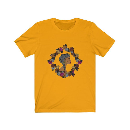 Woman In Color Cropped Hair 2 Tee