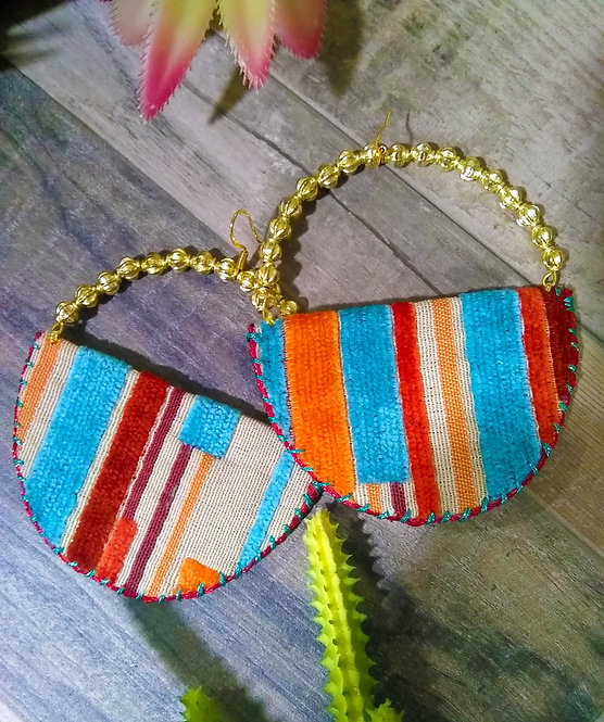 Shian Striped Hoops
