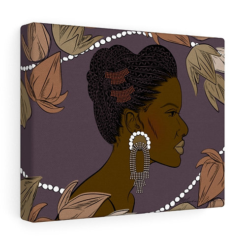 Woman With Braided Bun Canvas Gallery Wraps