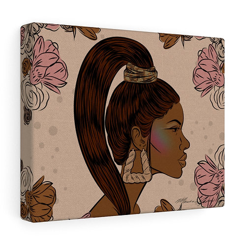 Woman With Sleek Ponytail Canvas Gallery Wraps