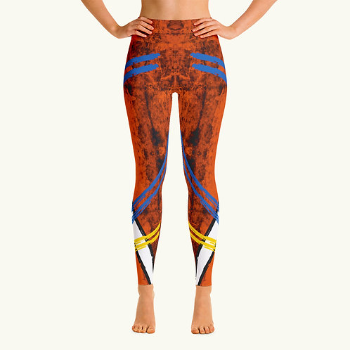 Orange Distress Sport Legging