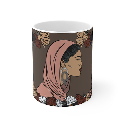 Woman with head covering