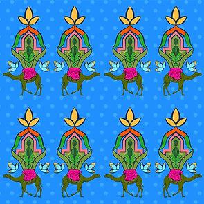 Oasis Hot Pink Camel Motif Pattern 2.jpg