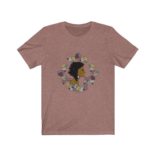Woman In Color Curly Bob 2 Tee