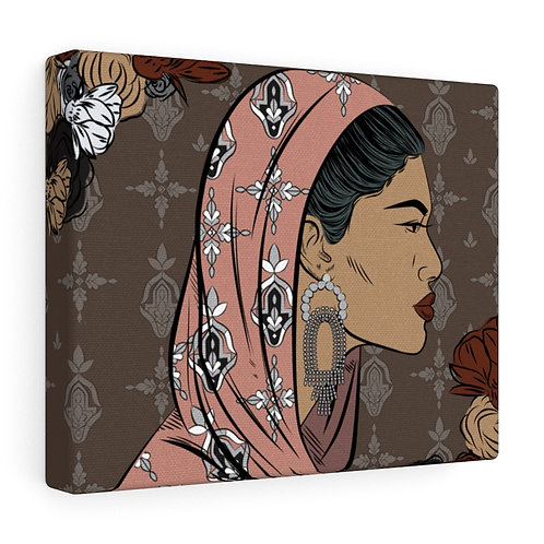 Woman With Head Covering Canvas Gallery Wraps