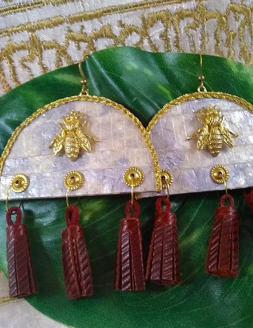 Malikah Bee Tassel Earrings