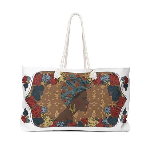 Woman With Gele Weekender Bag