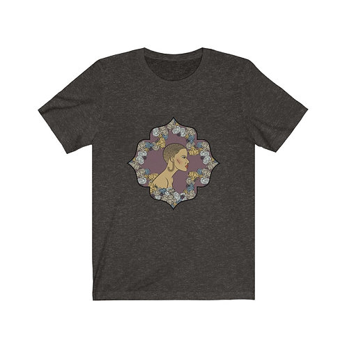 Woman In Color Trimmed Haircut Tee