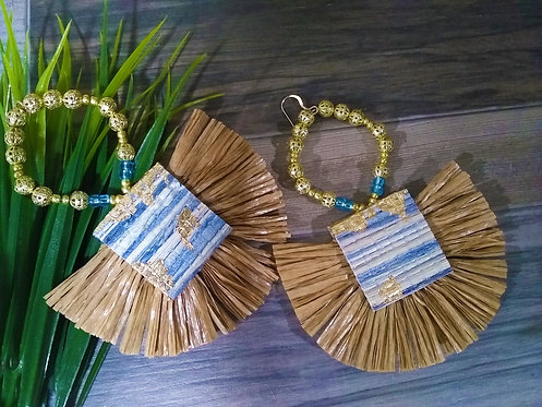 Azul Fan Earrings