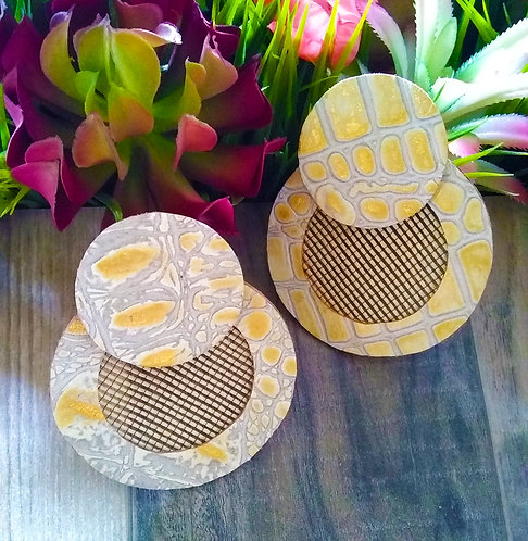 Goldie Mesh Disc Earrings
