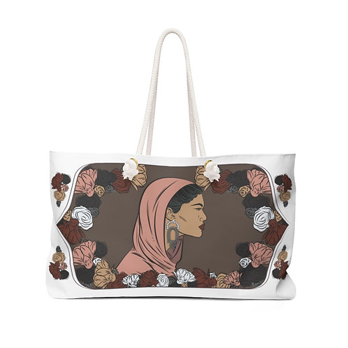 Woman With Head Covering Weekender Bag