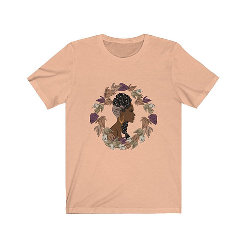 Woman In Color Braids With Pearls 2 Tee