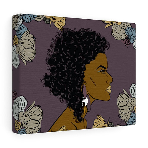 Woman With Curly Bob Canvas Gallery Wraps