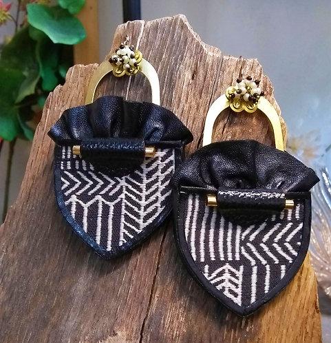 Zena Ruffle Drop Earrings