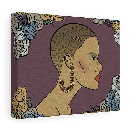 Woman With Short Cut Canvas Gallery Wraps