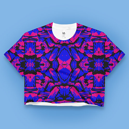 Pink Blue Tribe Crop Top