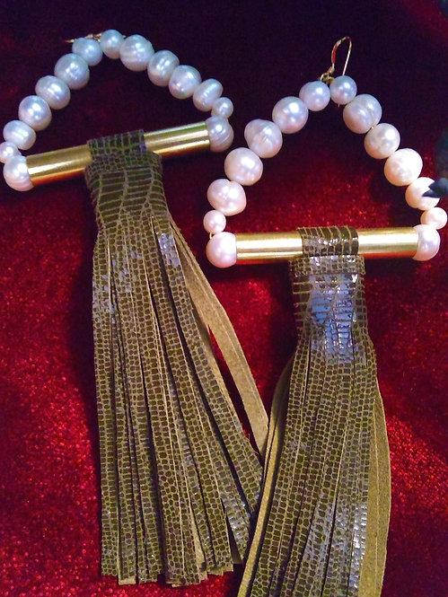 Nadia Snake Tassel Earrings
