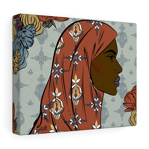 Woman With Hijab Canvas Gallery Wraps