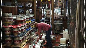 Head brewer at work