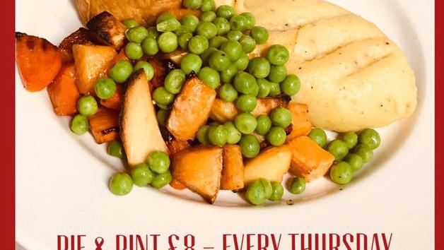 Thursday is Pie & Pint night