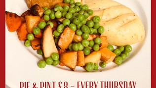 Thursday is Pie & Pint night