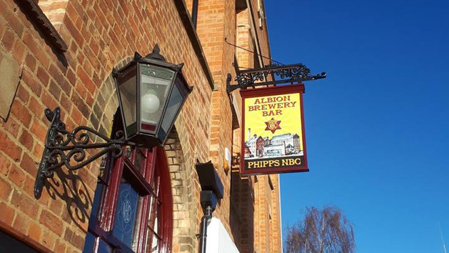 The Albion Brewery Bar new sign sign