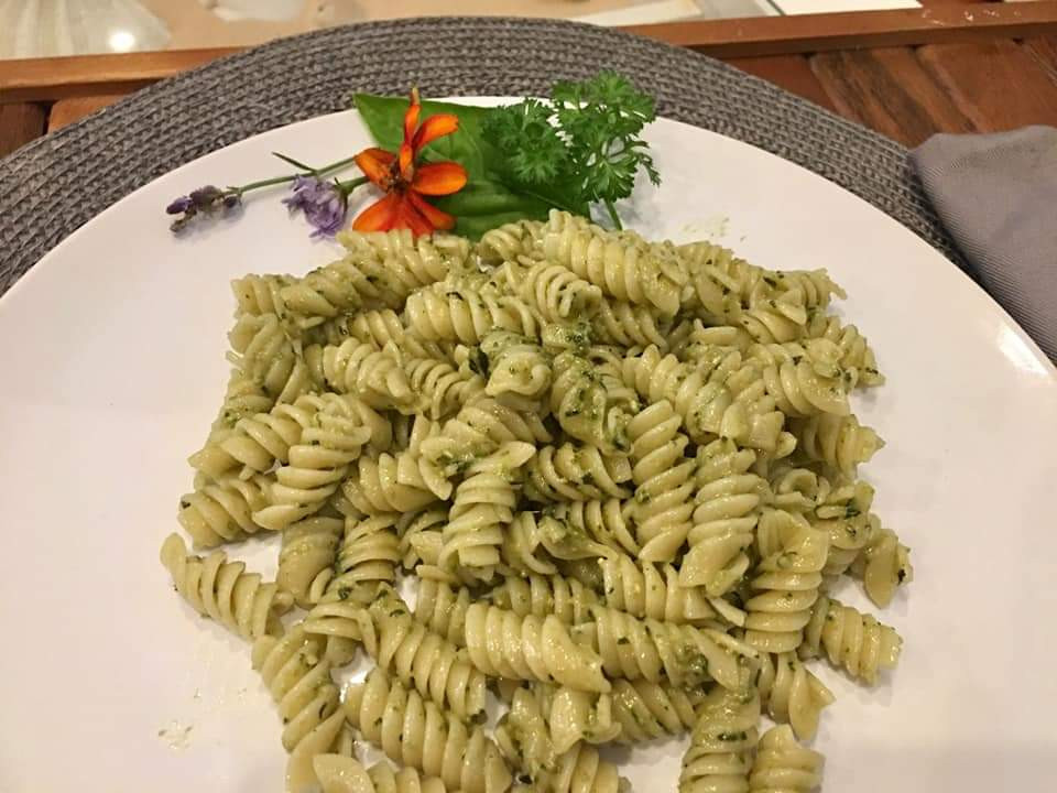 Pesto on Rotini Pasta at Mustard Seed Sentinel