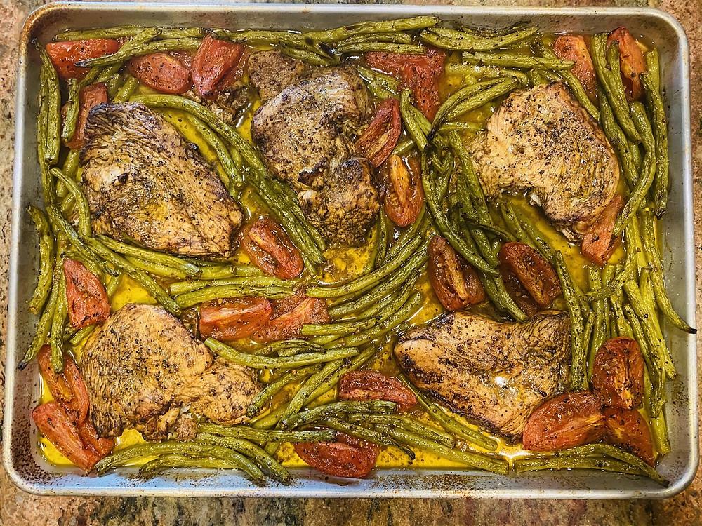 Sheet Pan Italian Chicken