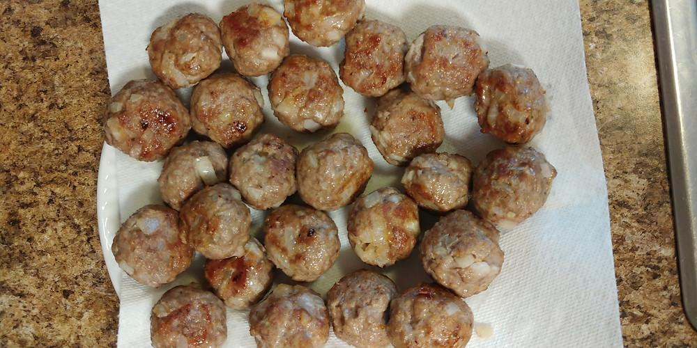 Meatballs at Mustard Seed Sentinel