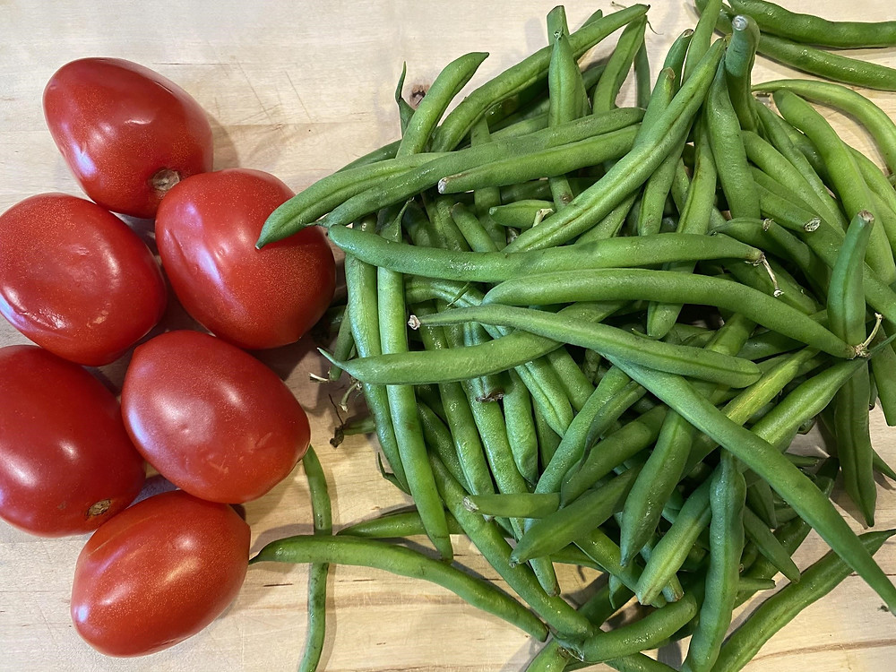 Tomatoes and Green Beans at Mustard Seed Sentinel