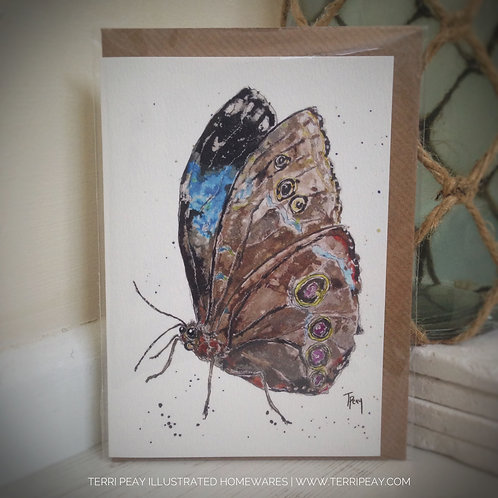 'Blue Morpho Butterfly' Card
