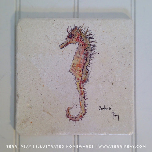 Handcrafted 'Seahorse' Placemat