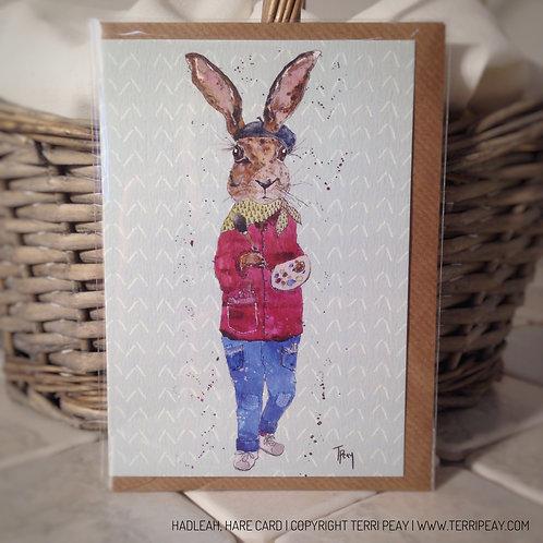 'Hadleah, Hare' Card