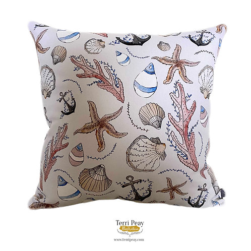 'Nautical' Cushion (Grey)