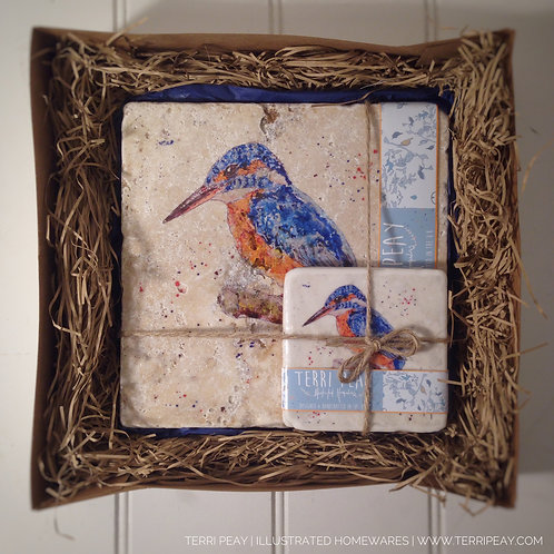 Placemat & Coaster Gift Set- 'Kingfisher'