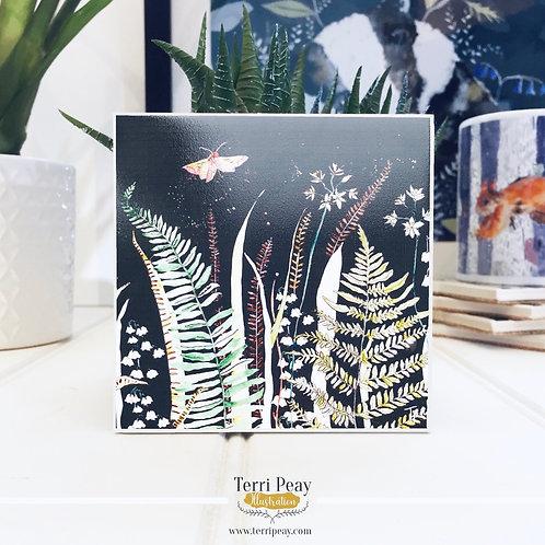'Wild Woodland' Charcoal Grey Coaster