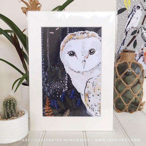 'Woodland Owl' Print