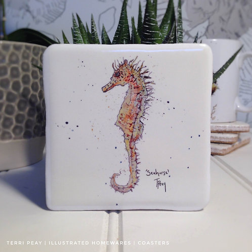 Hand Crafted 'Seahorse' Coaster