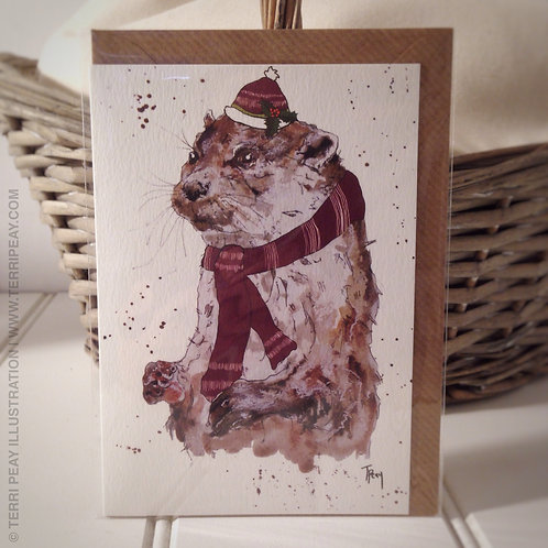 'Winter Otter' Card