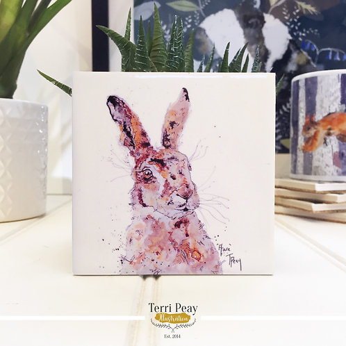 Hand Crafted 'Hare' Coaster