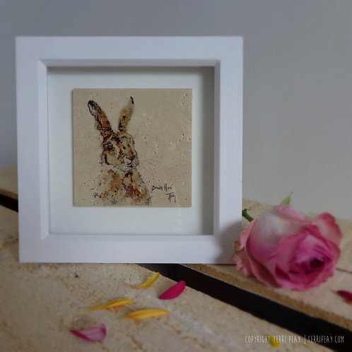Framed 'Hare' Tile