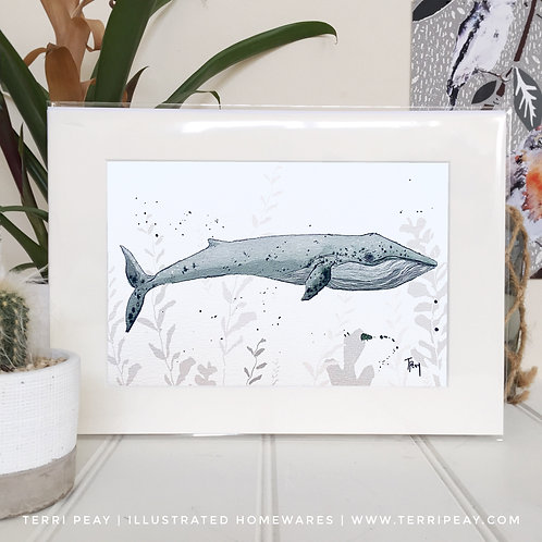 'Blue Whale' Print
