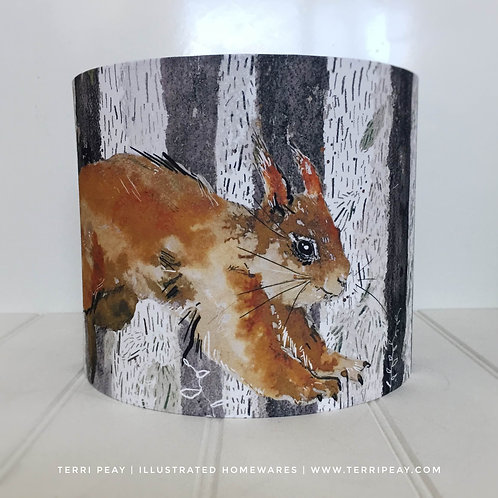 'Red Squirrel' Lampshade