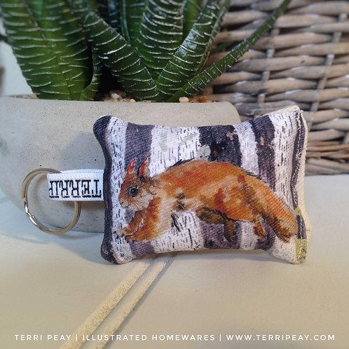'Woodland Squirrel' Keyring